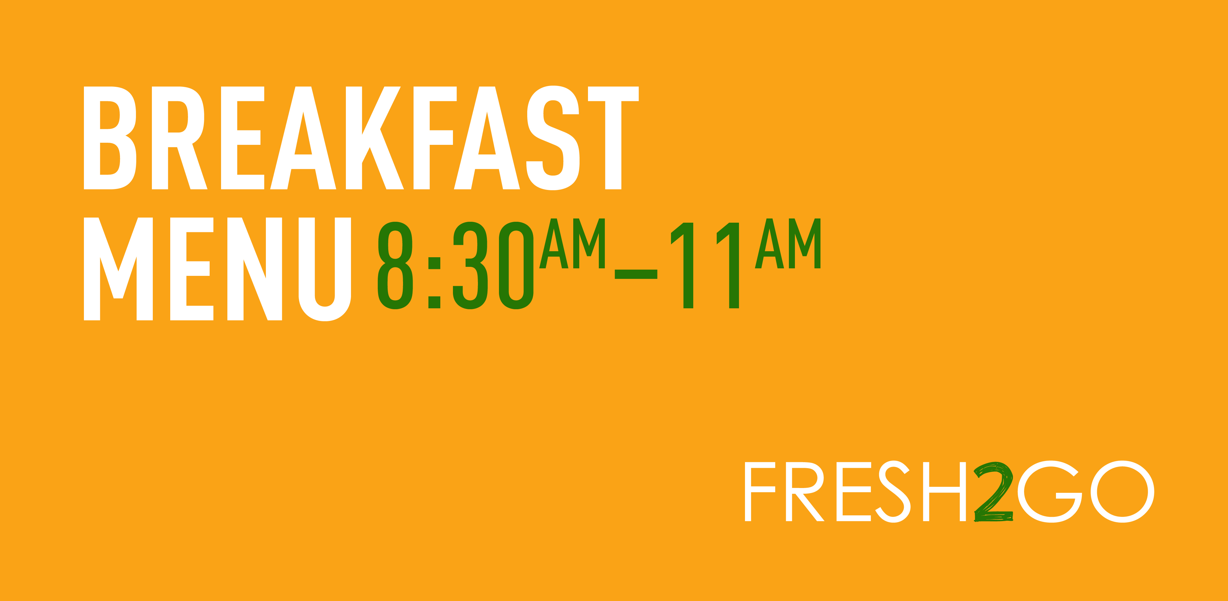 Breakfast menu banner